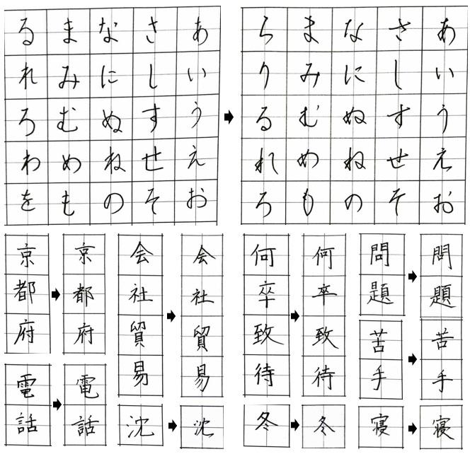 谷口先生のレッスンを受けることで「スマートな大人の字」に変わりました!